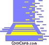 Vector Clip Art graphic  of a flatbed scanner