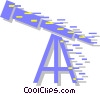 Vector Clip Art image  of a telescope