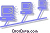 computer network system Vector Clipart picture