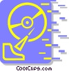 Vector Clip Art picture  of a hard drive