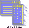 computer windows screens Vector Clipart graphic