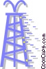 oil rig Vector Clipart graphic