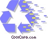 Vector Clipart picture  of a recycle symbol
