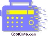 Vector Clip Art picture  of a radio