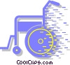 Vector Clip Art image  of a wheelchair