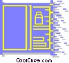 Vector Clipart image  of a drawers and cabinets