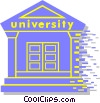 Vector Clip Art image  of a university building