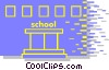 Vector Clip Art image  of a school building