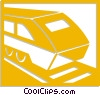 Vector Clipart illustration  of a trains