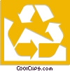 Vector Clip Art graphic  of a recycle symbol