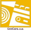Vector Clip Art image  of a cassette tape player