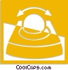 Vector Clip Art graphic  of a track ball