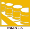 Vector Clipart picture  of a oil barrels