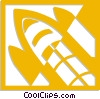 Vector Clipart image  of a space shuttle