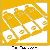 Vector Clip Art image  of a batteries