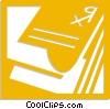Vector Clip Art picture  of a prescription pad