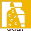 Vector Clipart picture  of a pill bottle