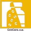 pill bottle Vector Clip Art graphic