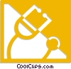 Vector Clip Art picture  of a stethoscope