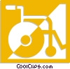 wheelchair Vector Clipart picture