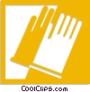 Vector Clipart illustration  of a rubber gloves