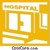Vector Clipart illustration  of a hospital