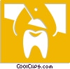 dentist tool pulling a tooth Vector Clipart graphic