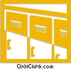 Vector Clip Art graphic  of a school lockers