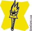 Vector Clip Art graphic  of a torch