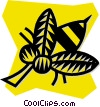 Vector Clip Art graphic  of a wasp