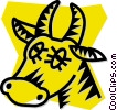 Vector Clipart picture  of a bull