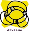 Vector Clip Art graphic  of a life ring