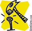 Vector Clip Art graphic  of a hammer and nail