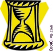 Vector Clipart picture  of a hourglass