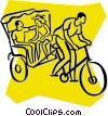 rickshaw Vector Clipart image