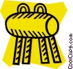 Vector Clipart illustration  of a pommel horse