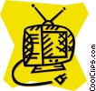 Vector Clipart image  of a television set