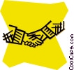 shaking hands Vector Clip Art picture