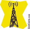 communications tower Vector Clipart illustration