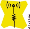 Vector Clip Art picture  of an antenna