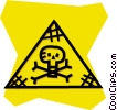 Vector Clip Art image  of a poison sign