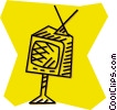 television set Vector Clip Art graphic