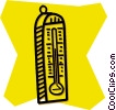Vector Clipart graphic  of a thermometer