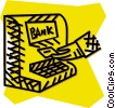 Vector Clipart image  of a bank machine