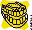 Vector Clipart image  of a teeth