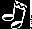 Vector Clip Art graphic  of a music note