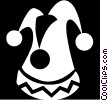 Vector Clip Art image  of a court jester hat