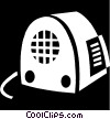 vintage radio Vector Clipart graphic