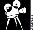 movie camera Vector Clipart graphic
