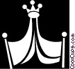 Vector Clip Art graphic  of a royalty